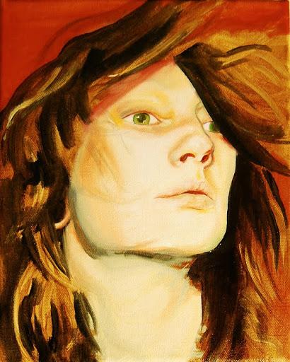 Self-Portrait in progress.